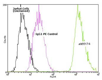 Flow Cytometry - Hsp70 antibody [N27F34] (Phycoerythrin) (ab65174)