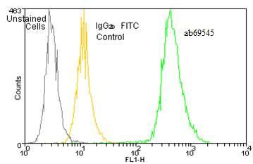 Flow Cytometry - Heme Oxygenase 1 antibody [HO-1-2] (FITC) (ab69545)