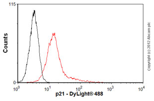 Flow Cytometry-Anti-p21 antibody [AC8.3](ab118)