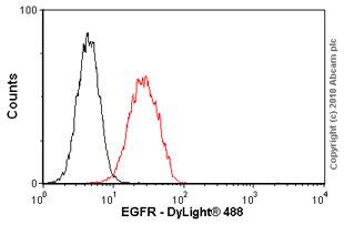 Flow Cytometry - EGFR antibody [EGFR1] (ab30)
