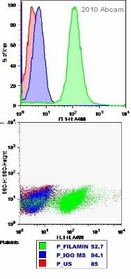 Flow Cytometry - Filamin A antibody (ab11074)