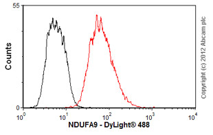 Flow Cytometry-Anti-NDUFA9 antibody [20C11B11B11](ab14713)