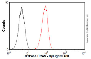 Flow Cytometry - Anti-GTPase HRAS antibody [Y13-259] (ab16881)