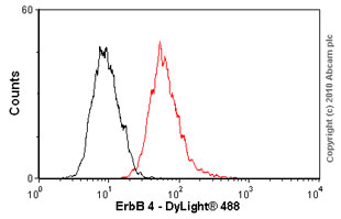 Flow Cytometry - ErbB 4 antibody [HFR1] (ab19391)
