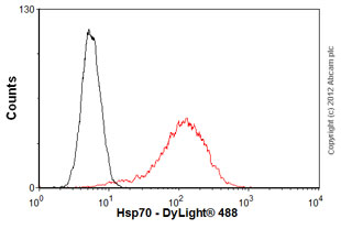 Flow Cytometry - Anti-Hsp70 antibody [5A5] (ab2787)