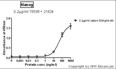 Sandwich ELISA - Nanog antibody - ChIP Grade (ab21624)