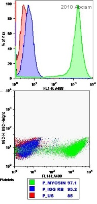 Flow Cytometry - non-muscle Myosin IIA antibody (ab24762)