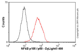 Flow Cytometry-NFkB p105 / p50 antibody [E381](ab32360)