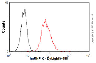 Flow Cytometry-Anti-hnRNP K antibody [3C2] - ChIP Grade(ab39975)
