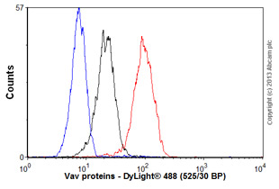 Flow Cytometry-Anti-Vav proteins antibody [EP482Y](ab40875)
