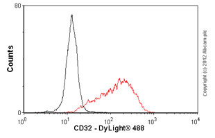 Flow Cytometry - Anti-CD32 antibody [AT10] - Azide free (ab41899)