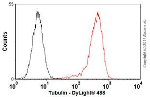 Flow Cytometry-Anti-Tubulin antibody [DM1A +DM1B](ab44928)
