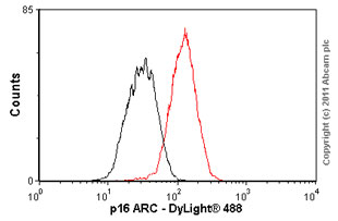 Flow Cytometry - p16 ARC antibody [EP1551Y] (ab51243)