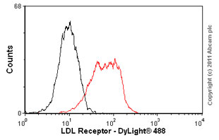 Flow Cytometry-LDL Receptor antibody [EP1553Y](ab52818)