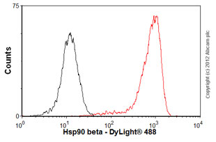 Flow Cytometry-Anti-Hsp90 beta antibody [H90-10](ab53497)