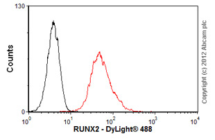 Flow Cytometry-Anti-RUNX2 antibody(ab54868)