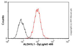 Flow Cytometry - ALDH1L1 antibody (ab56777)