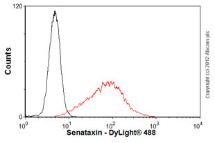 Flow Cytometry - Anti-Senataxin antibody (ab56984)