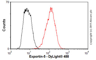 Flow Cytometry - Anti-Exportin-5 antibody (ab57491)