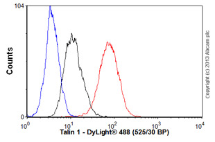 Flow Cytometry-Anti-Talin 1 antibody(ab57758)