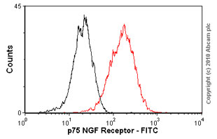 Flow Cytometry - p75 NGF Receptor antibody [MLR2] (FITC) (ab62122)