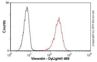 Flow Cytometry-Vimentin antibody [VI-01](ab7752)
