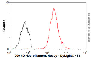 Flow Cytometry-Anti-200 kD Neurofilament Heavy antibody [RT97](ab77745)