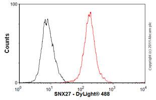 Flow Cytometry-Anti-SNX27 antibody [1C6](ab77799)