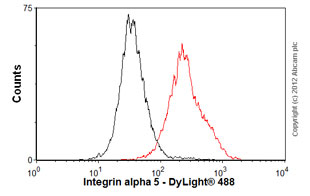 Flow Cytometry-Anti-Integrin alpha 5 antibody [P1D6] - Azide free(ab78614)