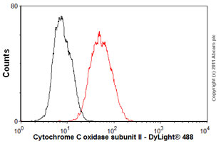 Flow Cytometry-Anti-Cytochrome C oxidase subunit II antibody [EPR3314](ab79393)