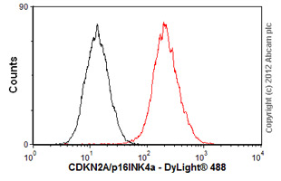 Flow Cytometry-Anti-CDKN2A/p16INK4a  antibody [EP4353Y](ab81278)