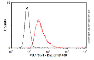 Flow Cytometry-Anti-PU.1/Spi1 antibody(ab88082)