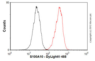 Flow Cytometry - Anti-S100A10 antibody (ab89438)