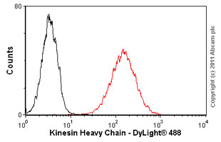 Flow Cytometry-Anti-Kinesin Heavy Chain antibody [KN-01](ab9097)