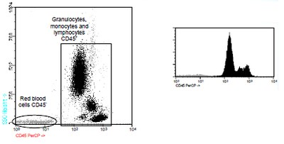 Flow Cytometry - CD45 antibody [D3/9] (PerCP) (ab90968)