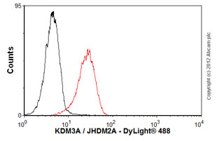 Flow Cytometry-Anti-KDM3A / JHDM2A antibody [14F8](ab91252)
