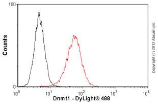 Flow Cytometry-Anti-Dnmt1 antibody [60B1220.1] - ChIP Grade(ab92453)