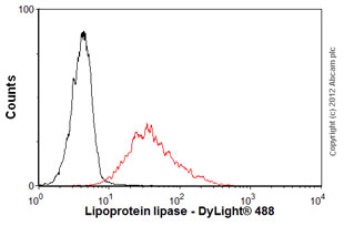 Flow Cytometry-Anti-Lipoprotein lipase antibody [5D2](ab93898)