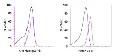 Flow Cytometry - NOTCH3 antibody [HMN3-133] (Phycoerythrin) (ab95775)