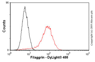 Flow Cytometry - Filaggrin antibody [SPM181] (ab17808)