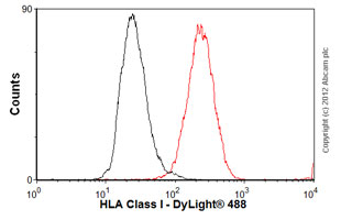 Flow Cytometry-Anti-HLA Class I antibody [MEM-123](ab2217)