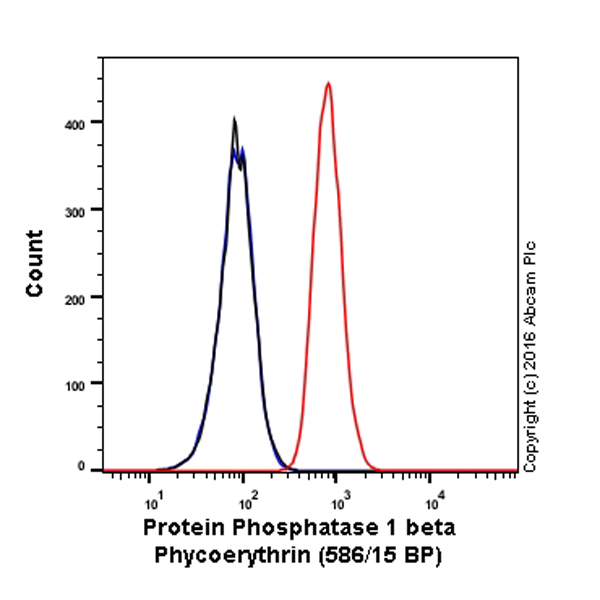 Flow Cytometry - Anti-Protein Phosphatase 1 beta antibody [EP1804Y] (Phycoerythrin) (ab211771)