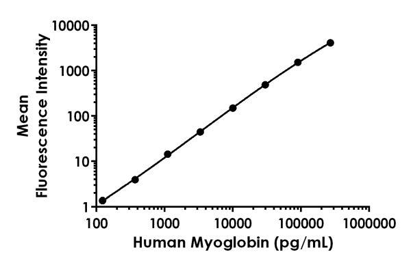 Example of human myoglobin standard curve