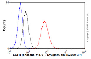 Flow Cytometry - Anti-EGFR (phospho Y1173) antibody [9H2] (ab24912)