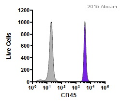 Flow Cytometry - Anti-CD45 antibody [I3/2.3] (Phycoerythrin) (ab25603)