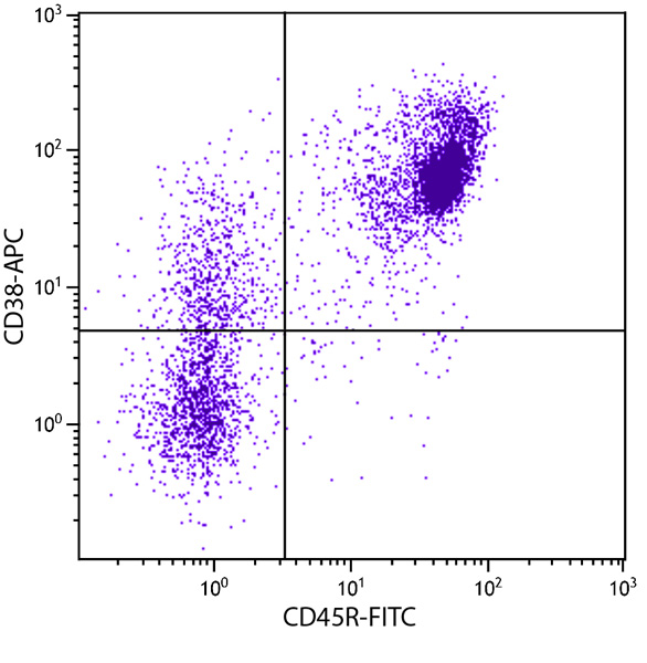Flow Cytometry - Anti-CD38 antibody [NIMR-5] (Allophycocyanin) (ab25669)