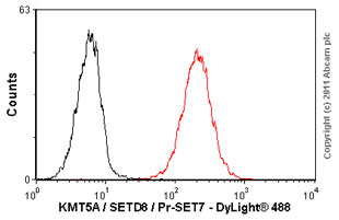Flow Cytometry - Anti-KMT5A / SETD8 / Pr-SET7 [43AT551.86] antibody (ab3798)