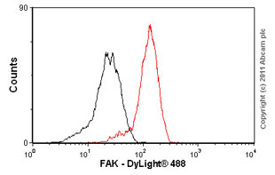 Flow Cytometry - Anti-FAK antibody [EP695Y] (ab40794)