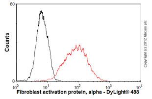 Flow Cytometry - Anti-Fibroblast activation protein, alpha antibody (ab54651)