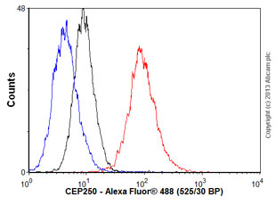 Flow Cytometry - Anti-CEP250 antibody (ab56853)